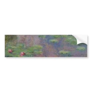 Wedding Themed WATER LILIES BUMPER STICKER