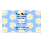 Water Lilies. Business Card Template