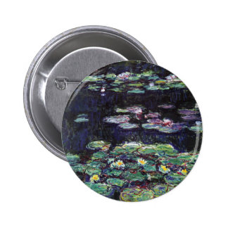 Water Lilies by Claude Monet Button