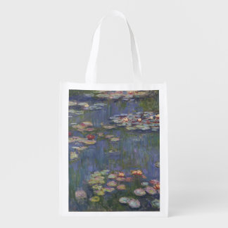 Water Lilies by Claude Monet Grocery Bag
