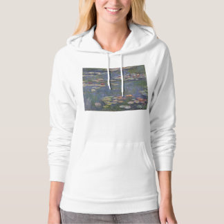 Water Lilies by Claude Monet Hooded Pullover