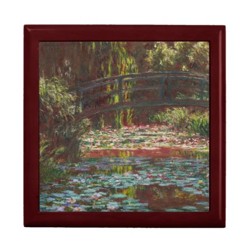Water Lilies by Claude Monet Jewelry Boxes
