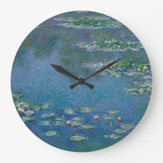 Water Lilies by Claude Monet Large Clock