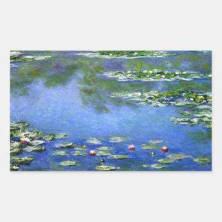 Water Lilies by Claude Monet Rectangular Sticker