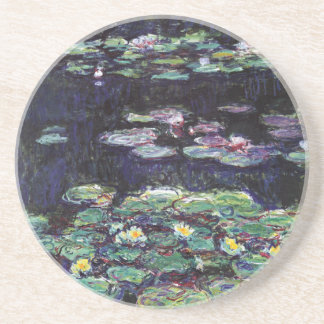 Water Lilies by Claude Monet Sandstone Coaster