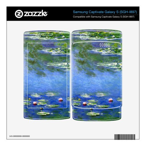 Water Lilies by Claude Monet Samsung Captivate Skin
