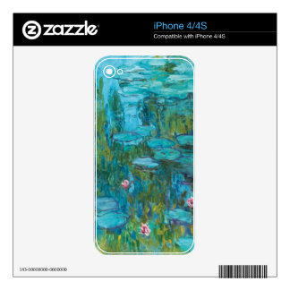 Water Lilies by Claude Monet Skin For The iPhone 4