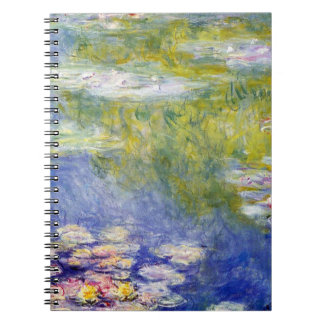 Water Lilies by Claude Monet Spiral Note Book