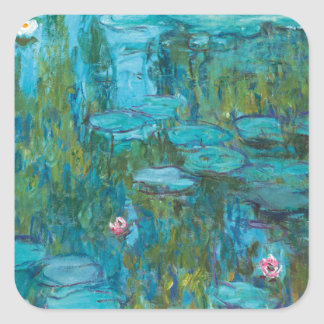 Water Lilies by Claude Monet Square Sticker