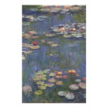 Water Lilies by Claude Monet Stationery Paper