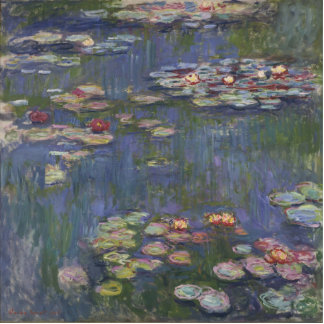 Water Lilies by Claude Monet Statuette