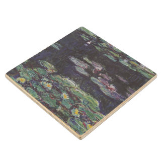 Water Lilies by Claude Monet Wooden Coaster