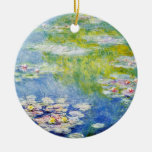 Water Lilies by Monet Double-Sided Ceramic Round Christmas Ornament