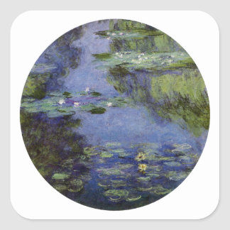 Water-Lilies by Monet Square Sticker