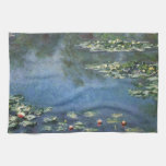 Water Lilies by Monet Vintage Floral Impressionism Hand Towel