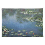 Water Lilies by Monet Vintage Floral Impressionism Cloth Placemat