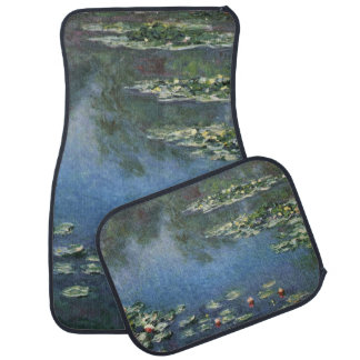 Water Lilies by Monet Vintage Floral Impressionism Floor Mat