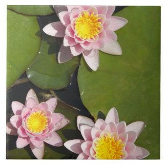 Water lilies ceramic tile