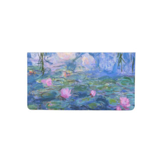 Water Lilies Checkbook Cover