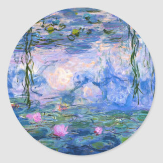 Water Lilies Classic Round Sticker