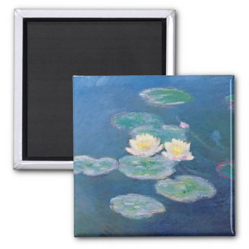 Water Lilies - Claude Monet 2 Inch Square Magnet