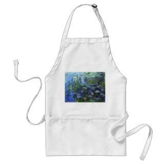 Water Lilies, Claude Monet Adult Apron
