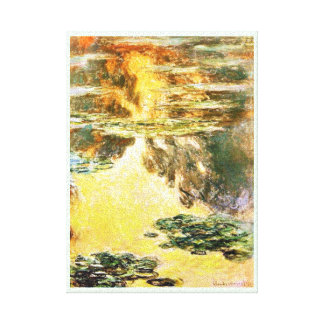 Water Lilies Claude Monet Stretched Canvas Prints
