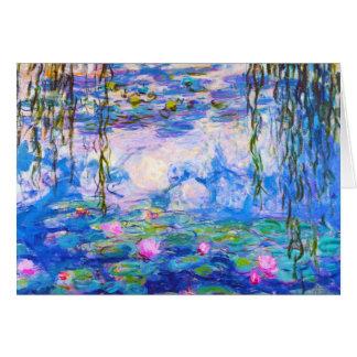 Water Lilies Claude Monet Card