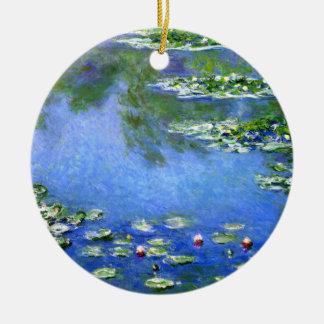 Water Lilies, Claude Monet Ceramic Ornament