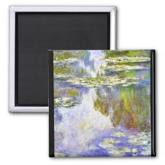 Water Lilies Claude Monet cool, old, master, maste 2 Inch Square Magnet