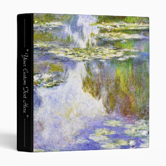 Water Lilies Claude Monet cool, old, master, maste Binder