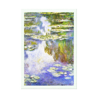 Water Lilies Claude Monet cool, old, master, maste Stretched Canvas Print