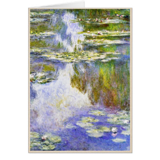 Water Lilies Claude Monet cool, old, master, maste Card