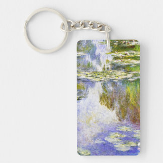 Water Lilies Claude Monet cool, old, master, maste Keychain