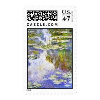 Water Lilies Claude Monet cool, old, master, maste Postage