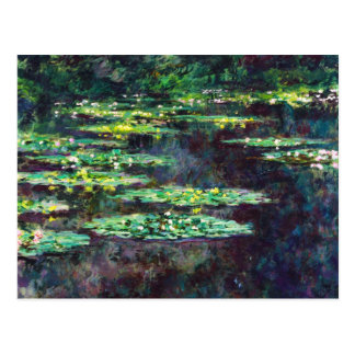 Water Lilies Claude Monet cool, old, master, maste Postcard