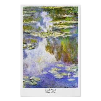 Water Lilies Claude Monet cool, old, master, maste Poster