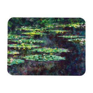 Water Lilies Claude Monet cool, old, master, maste Rectangular Magnet