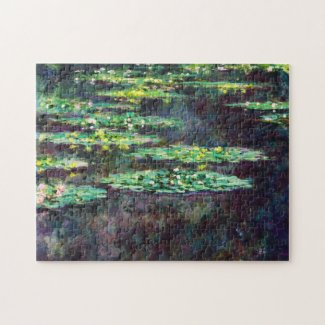 Water Lilies Claude Monet cool, old, master, maste Puzzle