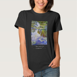 Water Lilies Claude Monet cool, old, master, maste Tee Shirts