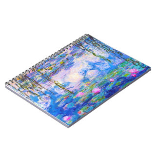 Water Lilies Claude Monet Notebook