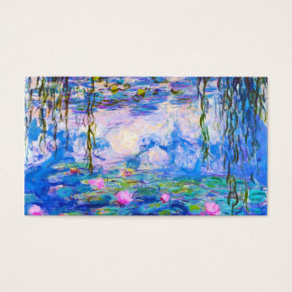 Water Lilies Claude Monet painting old master Business Card