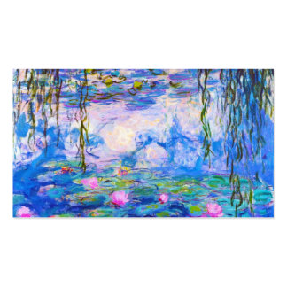 Water Lilies Claude Monet painting old master Double-Sided Standard Business Cards (Pack Of 100)