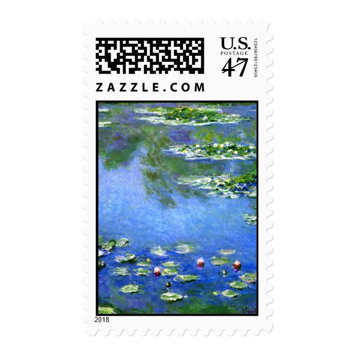 Water Lilies, Claude Monet Postage