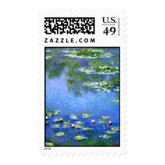 Water Lilies Claude Monet Postage Stamp
