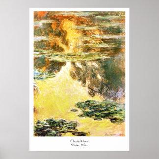 Water Lilies Claude Monet Poster