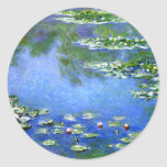 Water Lilies, Claude Monet Round Stickers