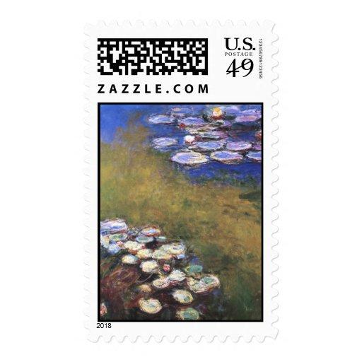 Water Lilies, Claude Monet Stamp