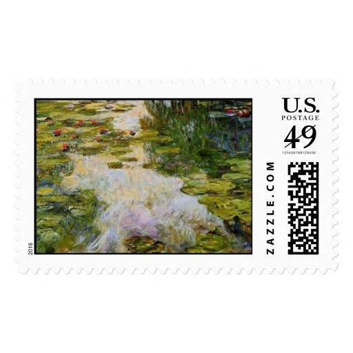 Water Lilies - Claude Monet Stamps