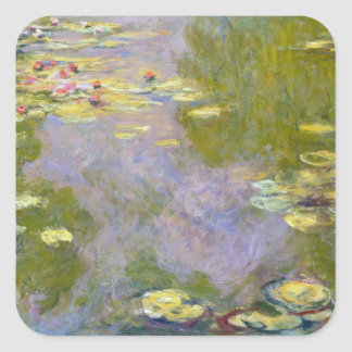 Water Lilies - Claude Monet Square Stickers